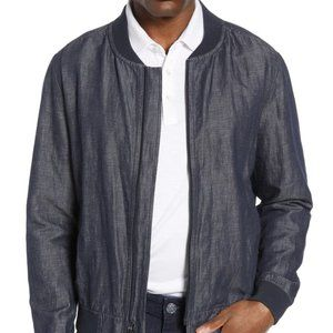 Robert Barakett BNWT Blue Linen Blend Jacket